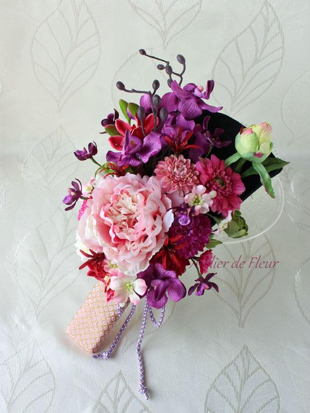 Ayaka 彩花 アーティフィシャルフラワーの和装ブーケ