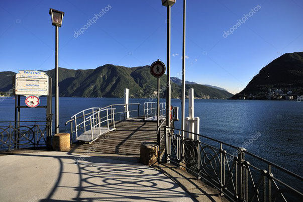 "This is the pier in which Meher Baba and his entourage landed when they visited Mt Generoso. This is also the pier in which the ""Special Agent "" disembarked as well. Photo coutesy of Depositphotos."