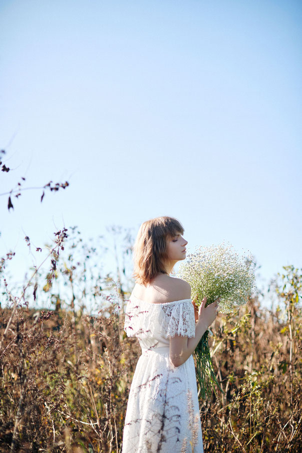 nd-1100/01 leaver lace one shoulder wedding dress (semi-order  ¥350,000+tax)