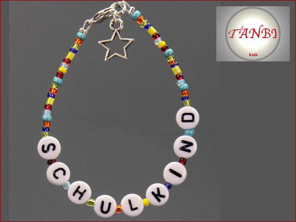 schulkind-einschulung-einschulungsgeschenk-schultütenfüllung-geschenk-erstklässler-talisman-glücksbringer-stern-schildkröte-biene-armband-kinderarmband-namensband