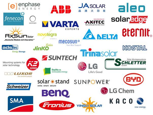 Soltermann Solar GmbH Fraubrunnen - Foto/Logos Kompontenten Solar