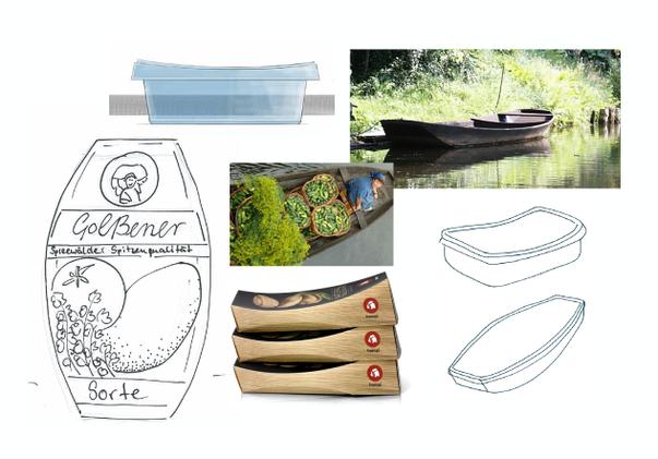 GOLßENER - Feinkostsalate - Ideenansätze in Form von Scribbles zur Formentwicklung für die Verpackung - finales Konzept - Produkt Design - DesignKis - 2013