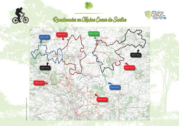 Guide de rando 2020 Maine Coeur de Sarthe Pays du Mans