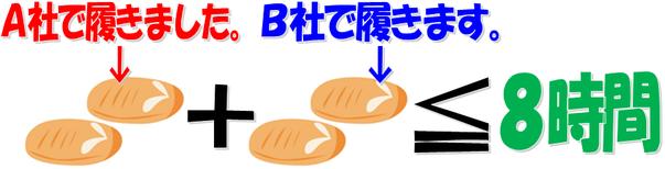 二足のわらじをはいたら、労働時間を通算して下さい。大阪・神戸・姫路からスグ残業代請求してnet!