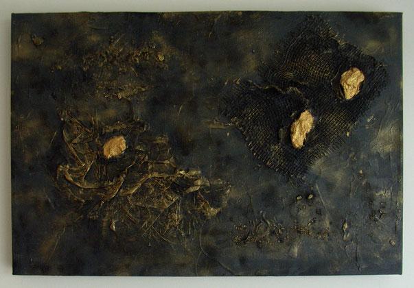 goldene Nüsse  ,  Bild , Gemälde , Kunst , Acryl , Leinwand , arthaus kempen , Kunst , Künstler , Silvia Heimbucher, kunsthandel