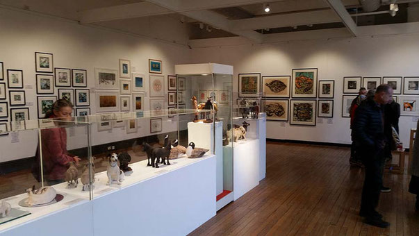 My work at a special Animal Craft exhibition at Cartwright Hall art gallery