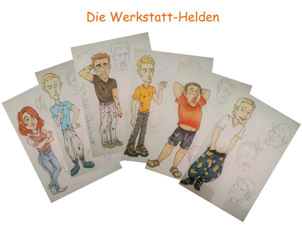 #Comic #Helden #Werkstatthelden #Werkstatt #lustig