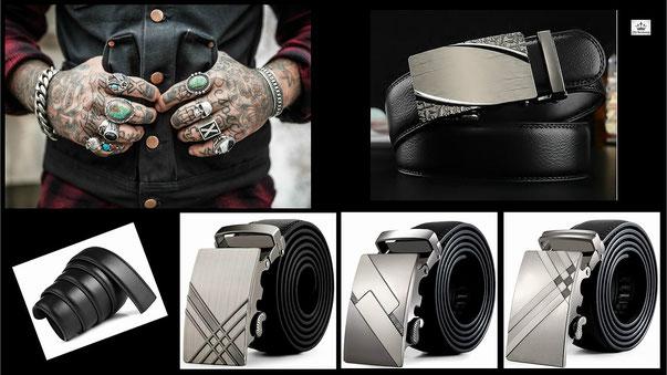 accessoires de mode homme - ceinture et idée cadeau Tendance