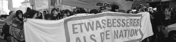 """""""Ums Ganze"""" - demoblok : """"Noget bedre end nationen"""""""
