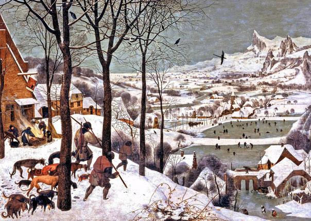 ブリューゲル《雪中の狩人》,1565年