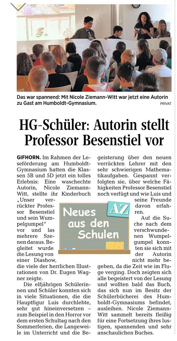 Aller-Zeitung v. 5. Juni 2019