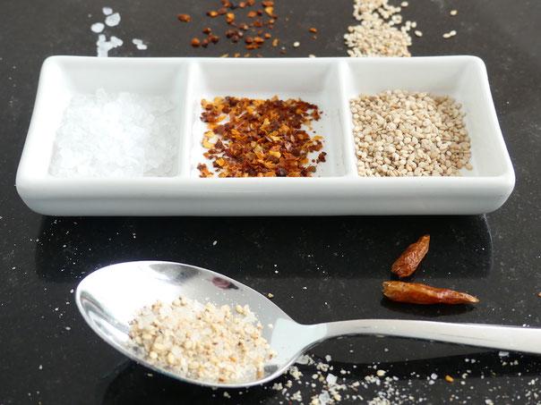 Sesam-Chili-Salz
