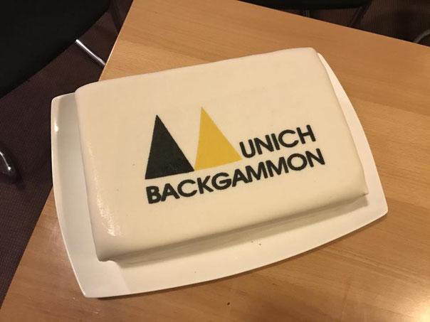 """Die mittlerweile traditionelle """"Munich Backgammon Torte"""""""