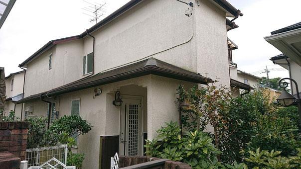 千葉市若葉区おゆみ野中央の屋根外壁ベランダの塗装工事 塗装前
