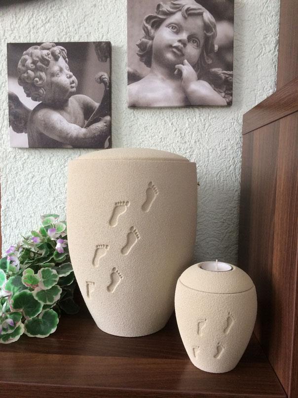 Das ist meine Urne, inkl. Gedenklicht für Zuhause