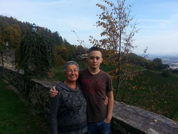 Kurz vor der Heimfahrt, auf der Burg Deutschlandsberg