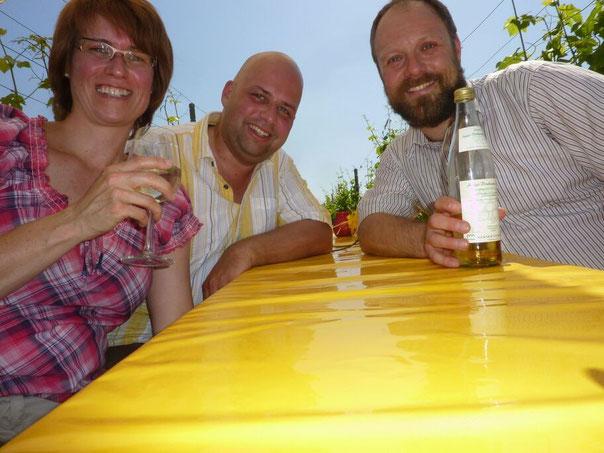 An Pfingstsonntag mit Claudia und Axel in den Weinbergen