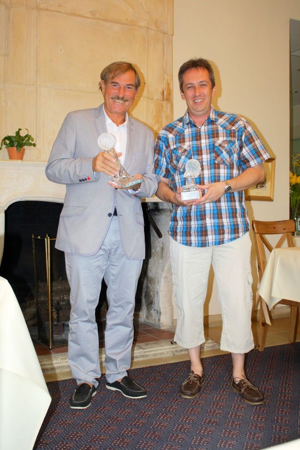CFL-Meister Agostini und 3. Platzierter David Lieners