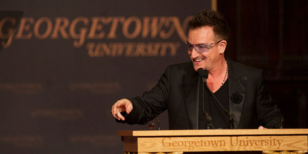 Speaking public bono speech U-2