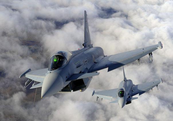Una coppia di Eurofighter Typhoon della Luftwaffe. (Foto: Luftwaffe)