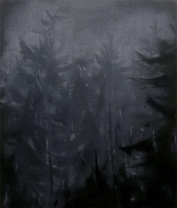Matthieu van Riel Schilderijen. Wald Empfindung ll 140x120cm acryl en olie op canvas 15.11.2017