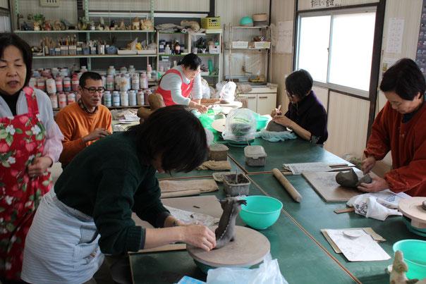 陶芸教室の雰囲気
