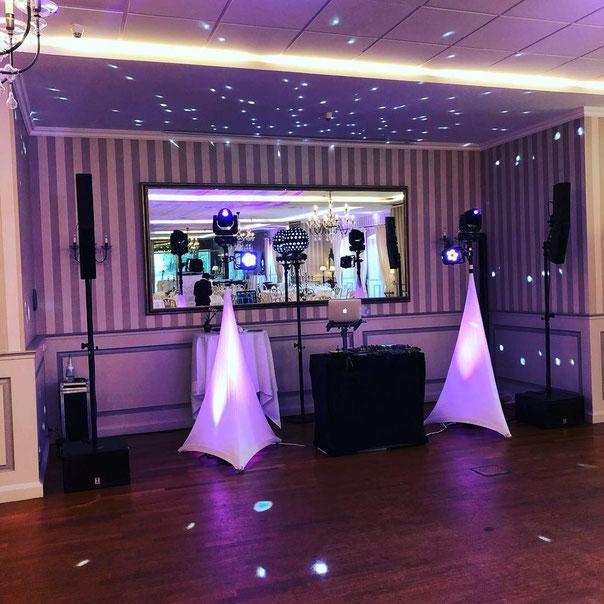 Schlosshotel Münchhausen - Hochzeit DJ Nico Aufbau des Weddingpaket - Musik- und Lichtanlage