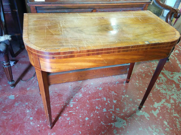 Antique, regency card table for restoration