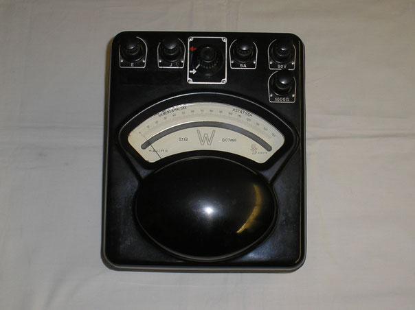 Astatichs Wattmeter von Siemens & Halske Berlin. Herstellungsjahr 1931