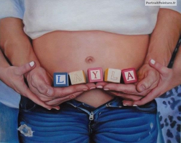 portrait-peinture-d-apres-photo-famille