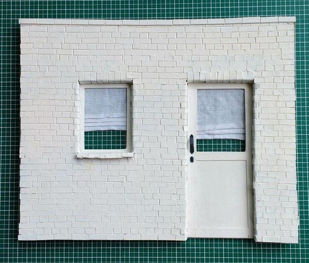 Mini-Hausfassade selber basteln