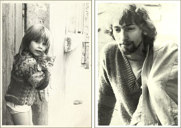 1984 - Fleur, petit chaton et Lou...
