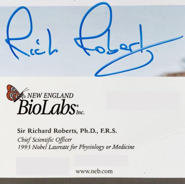 Autograph Richard Roberts Autogramm