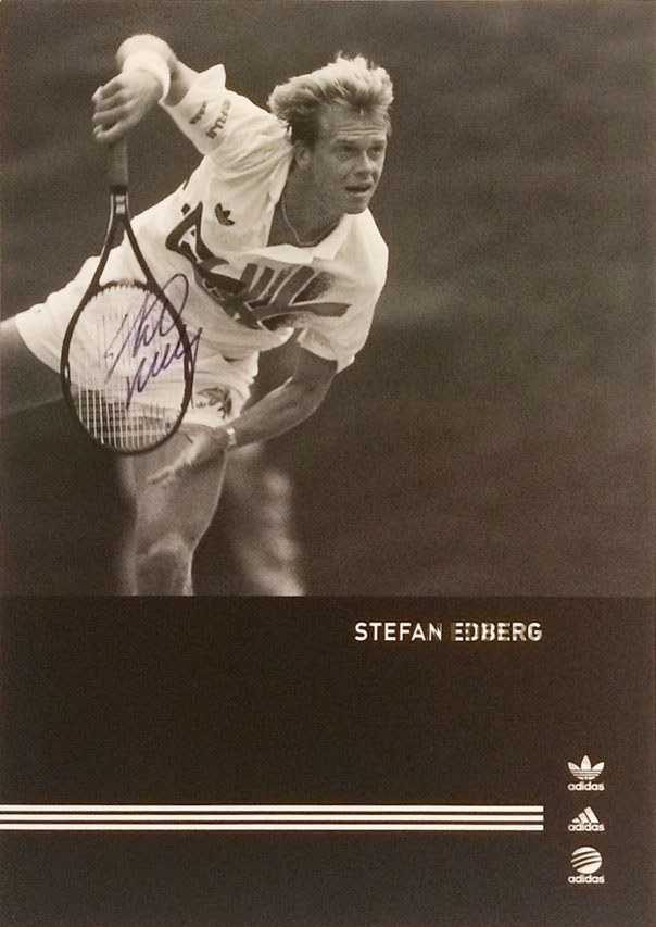 Stefan Edberg, retired, 9 Grand Slam Titles, 4 times Davis Cup Winner, Hall of Fame 2004, Autograph bought