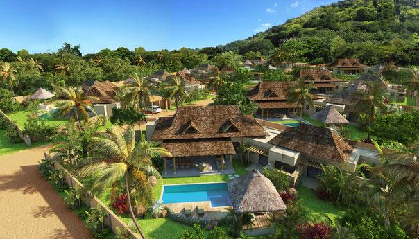 programme immobilier RES villas et maisons DOMAINE CAP TROPICAL RIVIERE NOIRE ILE MAURICE