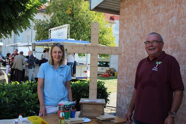 links Katja Scheid und Peter Backes, Oberthal