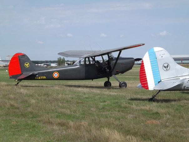 Die Maschine hat die Farbgebung der Pilotenschule der französchen Heeresfliegertruppe (ALAT) in Dax von 1980.