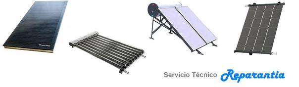 Servicio Técnico de reparación, instalación y mantenimiento de Energía Solar Térmica en Sevilla. Termosifón, Panel de Propileno, Colector Plano, Colector tubo de vacío, Concentrador Solar Térmico.