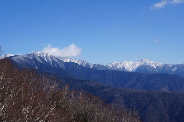 雪化粧の聖岳