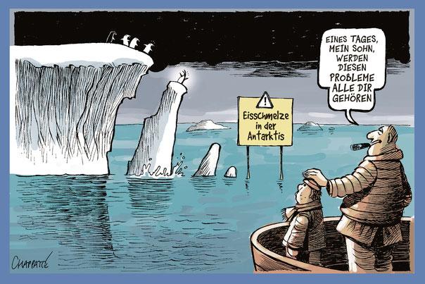 Cartoon von Chappatte in der NZZamSonntag vom 8. August 2021, Seite 15