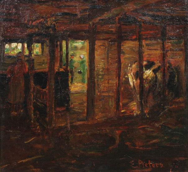 te_koop_aangeboden_een_schilderij_van_de_larense_school_kunstschilder_evert_pieters_1856-1932