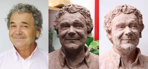 Buste Pierre Perret, sculpteur Langloÿs, Buste, Bustes