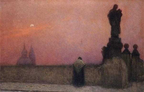 "Jacob Schikaneder, ""Crepuscolo, Praga"" (1890 ca.)"