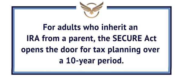 SECURE Act financial planning for inherited IRAs