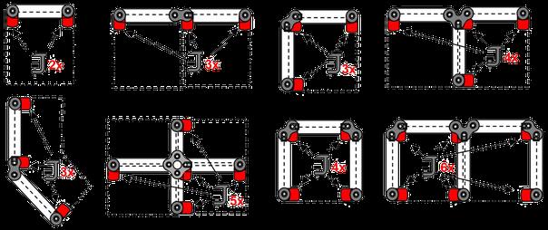 Disposition des pinces pour écrans de bureau