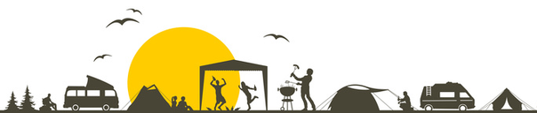 Zeichnung vom Campinplatz Camping Pfronten im Allgäu