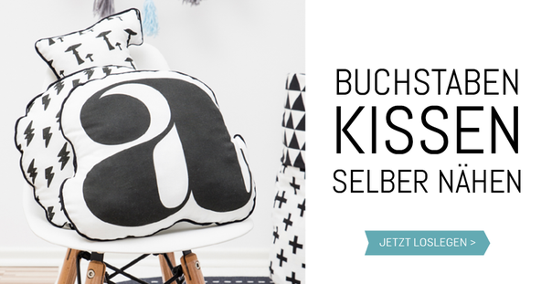 buchstaben dekokissen n hen in 8 einfachen schritten. Black Bedroom Furniture Sets. Home Design Ideas