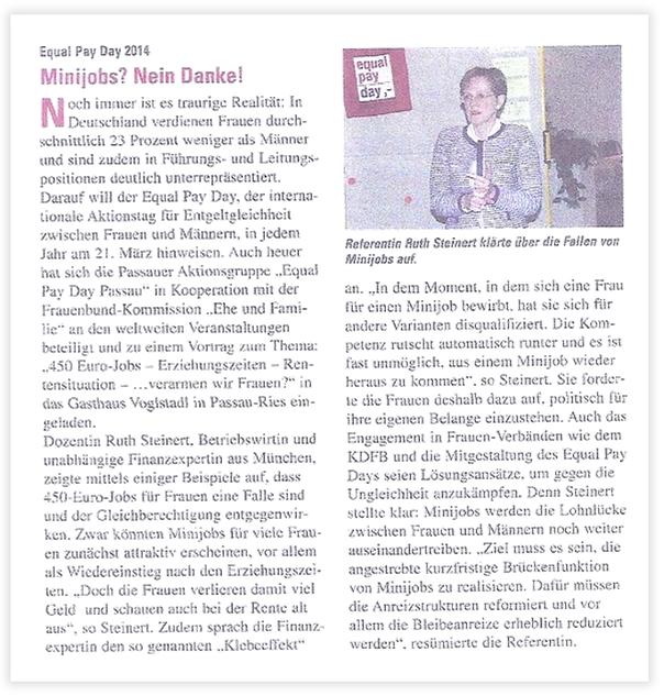 """Publikation in der Zeitschrift """"Engagiert"""" im Mai 2014"""