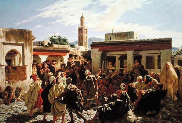 """Un conteur à Tanger"" de Alfred Dehodencq"