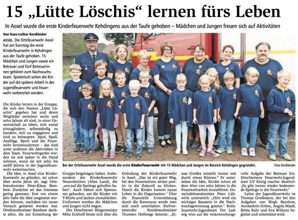 Bericht aus dem Stader Tageblatt vom 2. August 2016